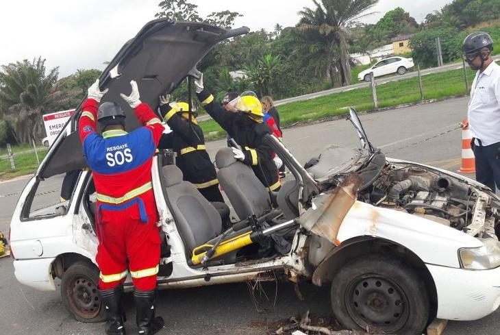 Equipe de Resgate da Bahia Norte realiza treinamento na BA-524