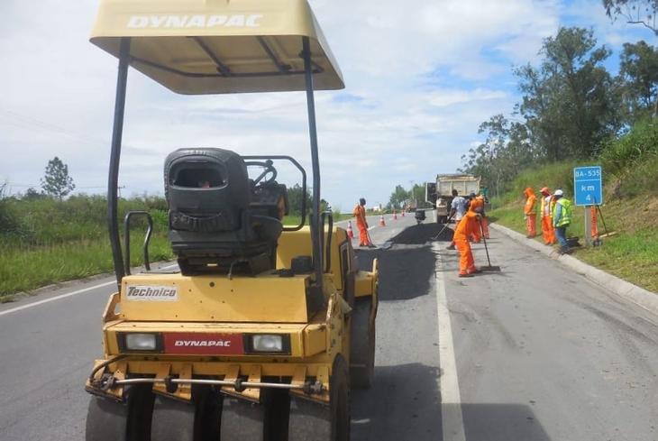 Bahia Norte executa obras de manutenção preventiva nas rodovias do Sistema BA-093