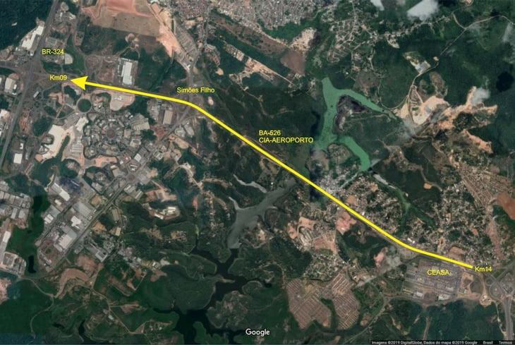 BA-526: Bahia Norte executa intervenção entre o km 9 e o km 14