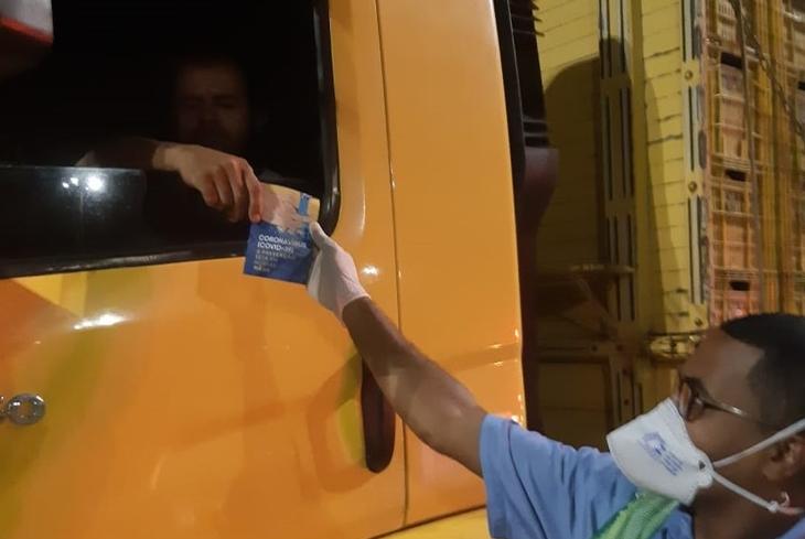 Bahia Norte, SDE, Seinfra e Agerba realizam ação em parceria para apoio aos caminhoneiros