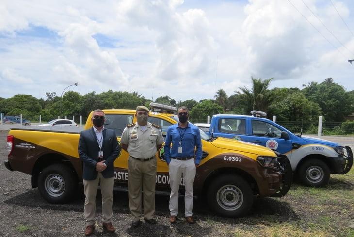 Bahia Norte entrega mais duas viaturas novas à Policia Militar Rodoviária
