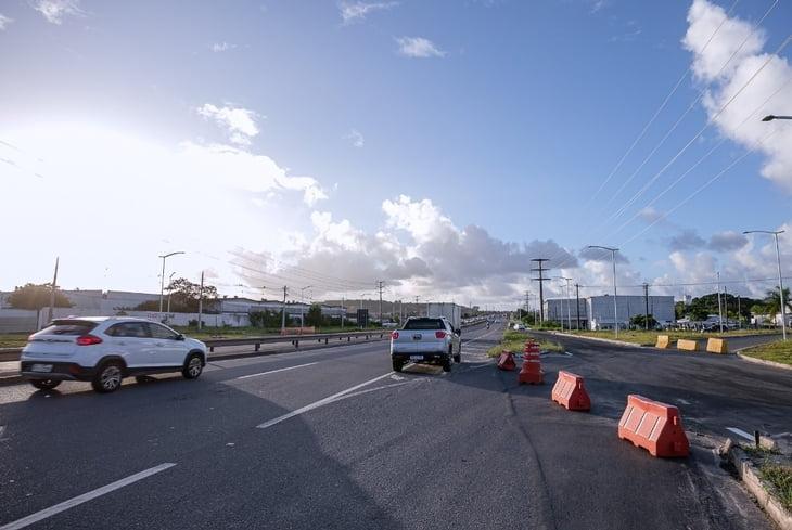 Trânsito é modificado para adequações no Viaduto do Trabalhador