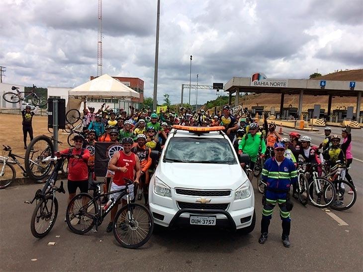 1º Pedal Integração reúne mais de 200 ciclistas no Sistema de Rodovias BA-093