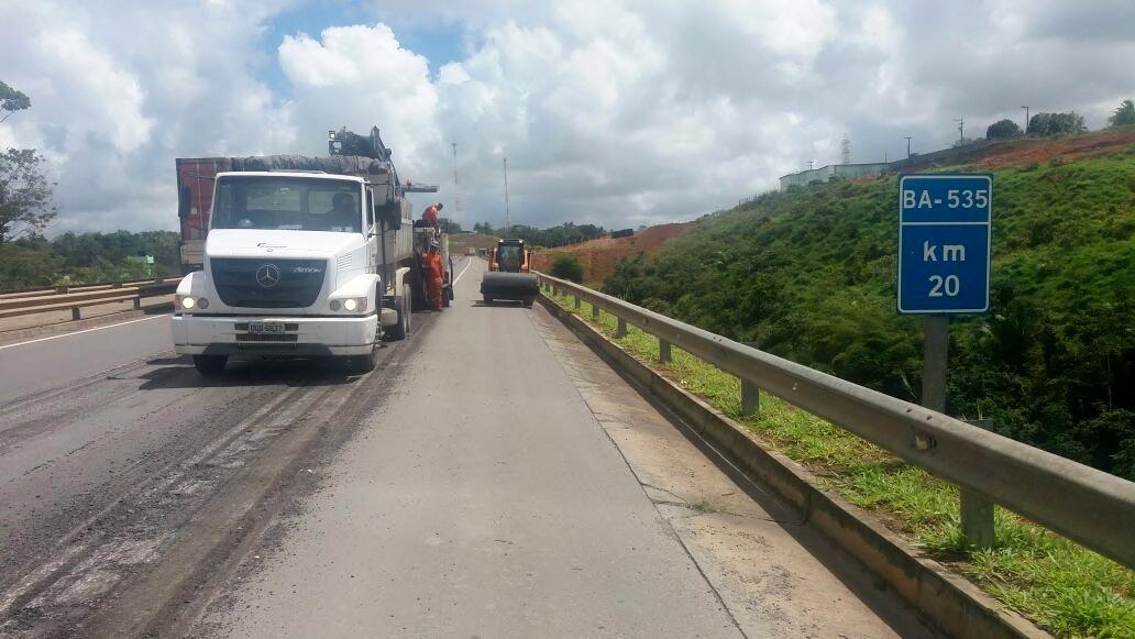 Bahia Norte executa intervenções na BA-535 e BA 524 a partir desta terça-feira (07)