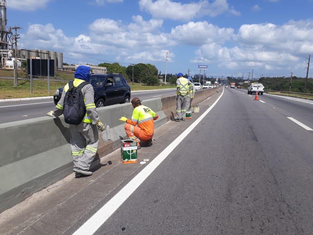 Bahia Norte realiza obras de manutenção e segurança viária na CIA-Aeroporto