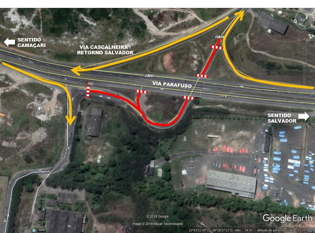 Bahia Norte inicia nova fase de obras em trecho do viaduto da Cascalheira
