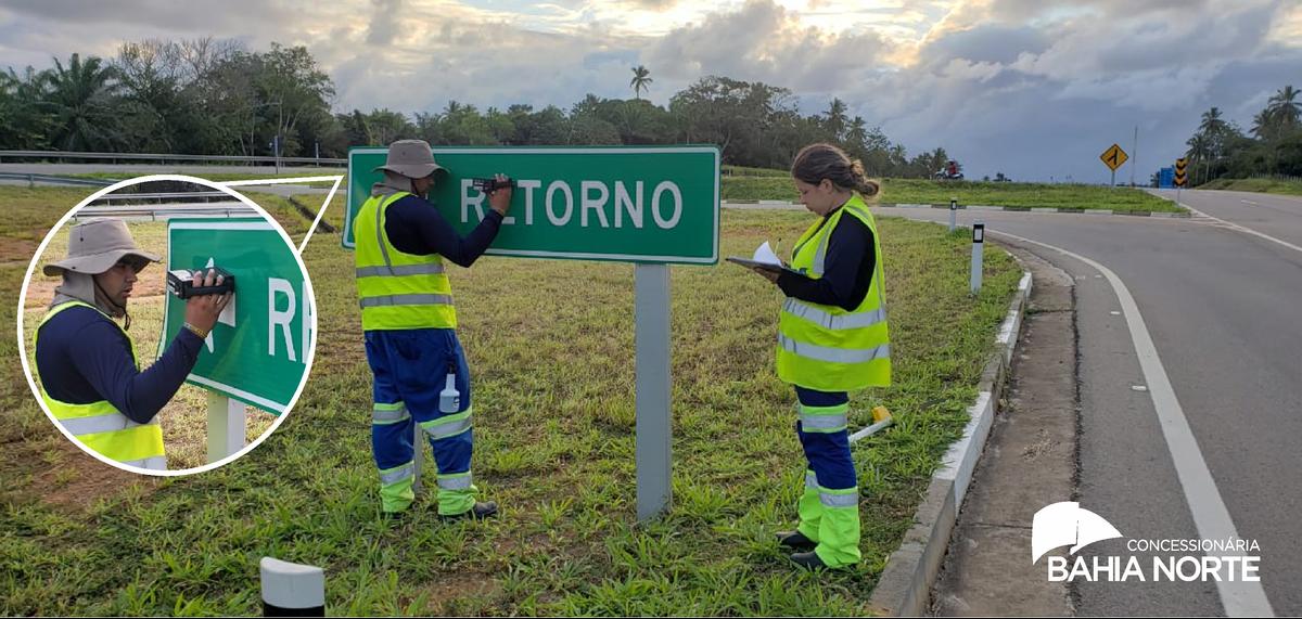 Bahia Norte realiza ensaios de Retrorrefletividade em todo o Sistema BA-093