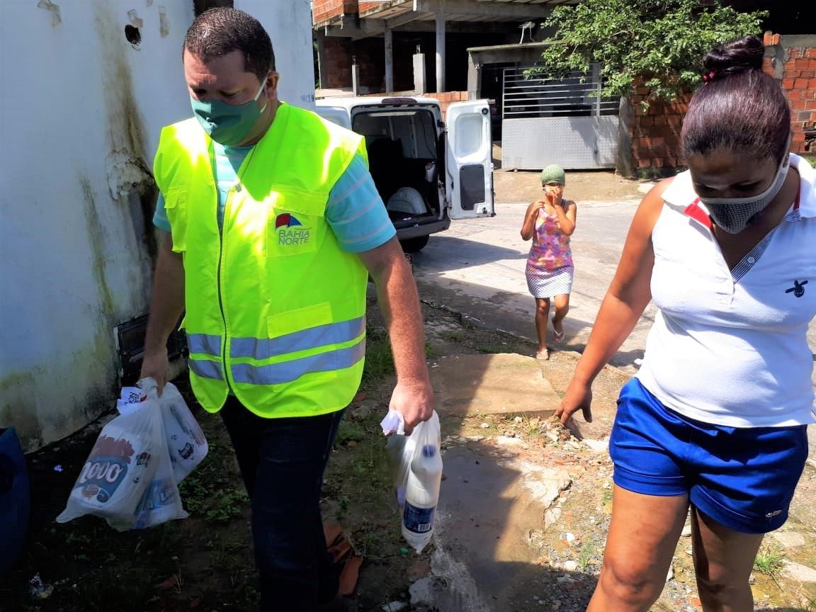 Bahia Norte realiza ação para doação de alimentos a comunidades carentes