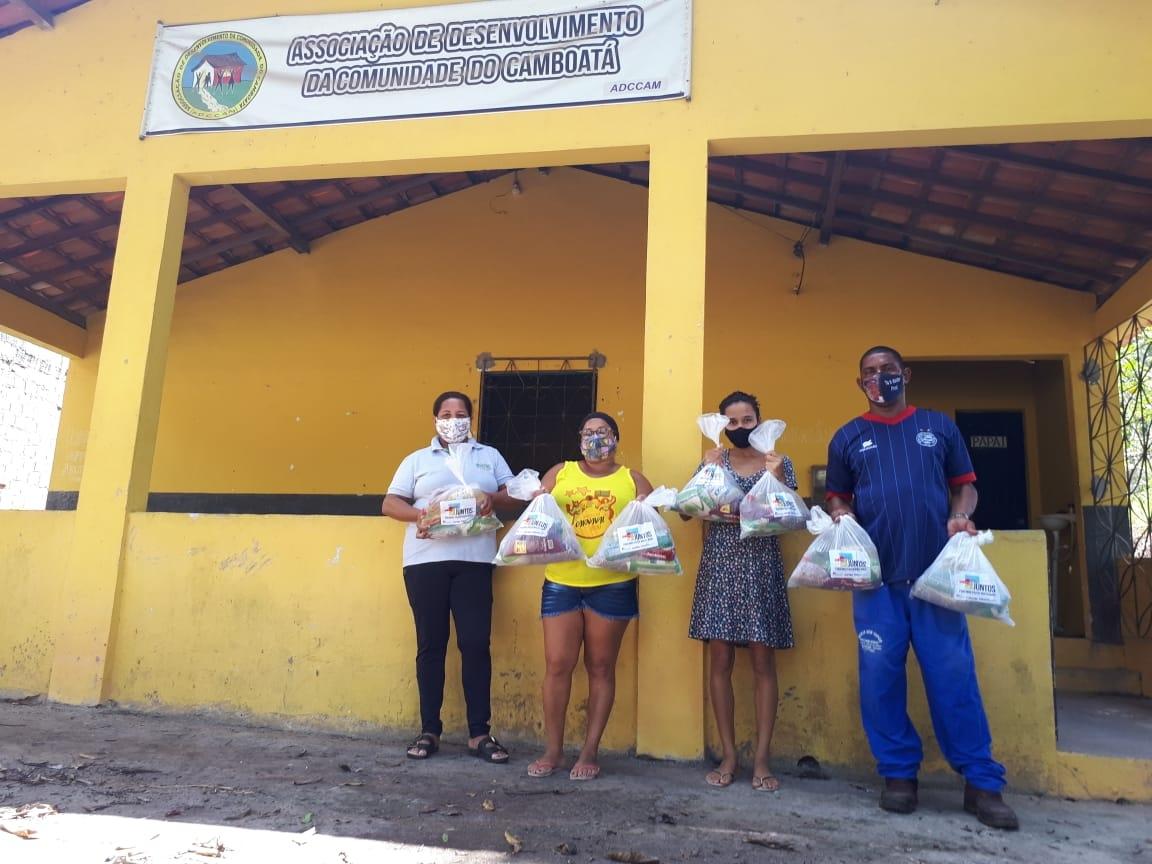 Bahia Norte iniciaentrega de alimentos eprodutosde higiene e limpezapara comunidades